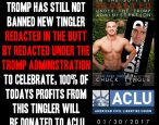 Best buckaroo Chuck Tingle donates <i>Redacted in the Butt</i> proceeds to good bud ACLU for standing up to Russian T-Rex puppet Domald