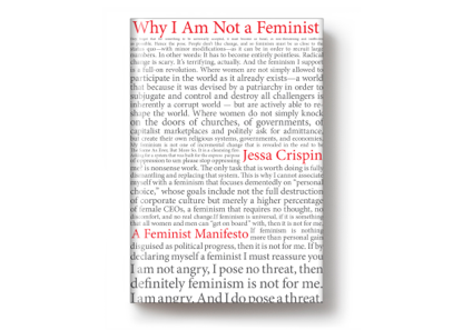 On sale today: <i>Why I Am Not a Feminist</i>