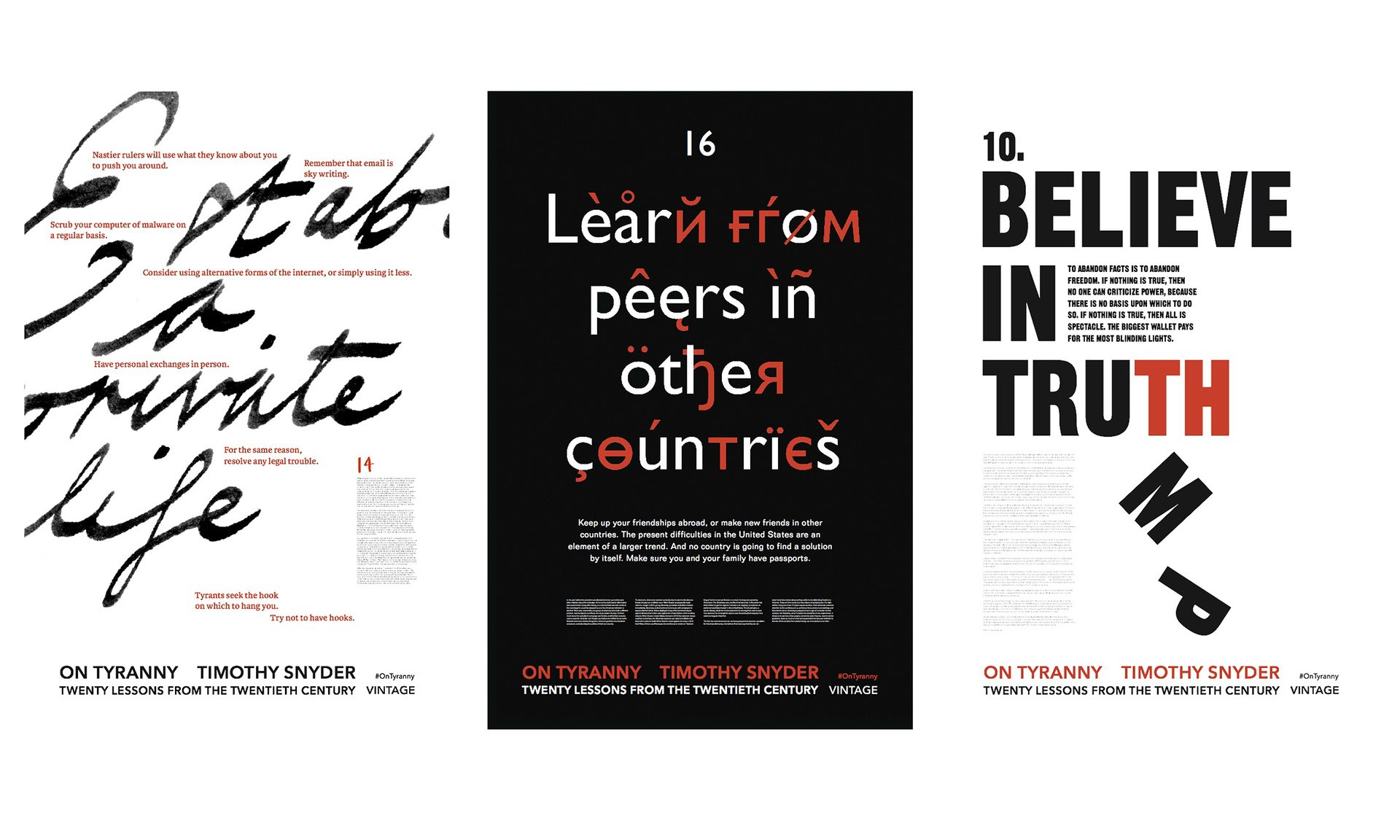 Timothy Snyder's manifesto for resisting tyranny hits the streets of London