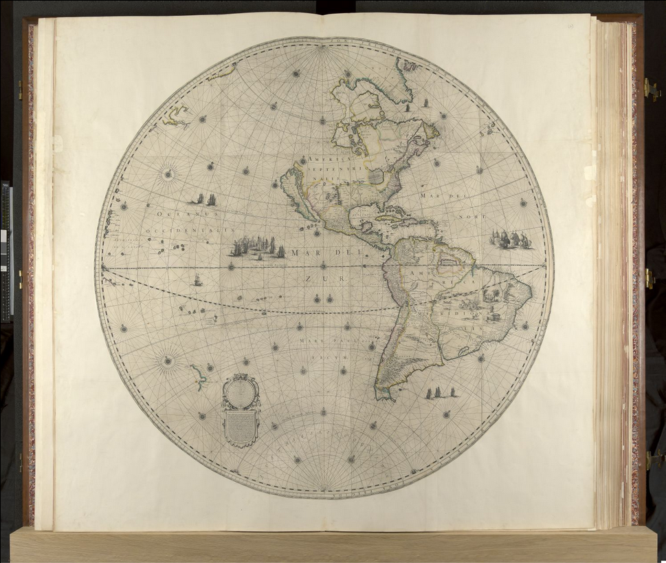 What's got two wheels and was just digitized by the British Library? The Klencke Atlas!
