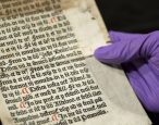 Pages from the hand of England's first-ever printer discovered