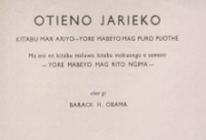 Books by Barack Hussein Obama, Sr. are up for auction in the Netherlands