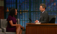 "Seth Meyers to Ladee Hubbard: ""You are Professor X!"""