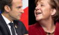Angela Merkel and Emmanuel Macron address the Frankfurt Book Fair