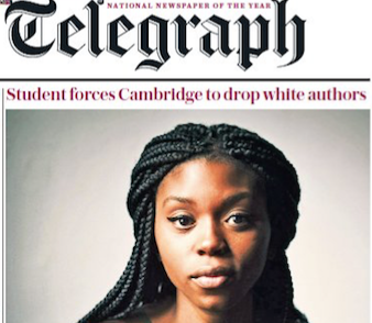 Cambridge defends a female student of color after a targeted <i>Telegraph</i> headline leads to threats