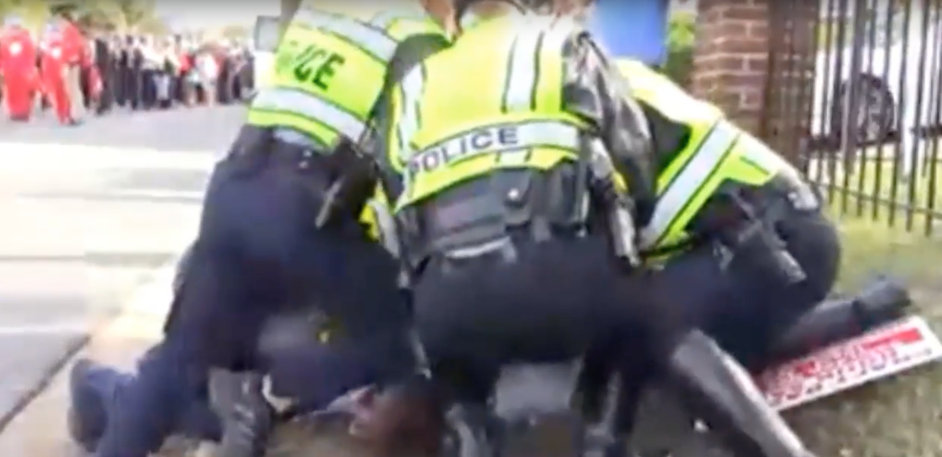 Well, this is going well: Virginia cops beat and arrest a journalist for asking questions and, um, cursing