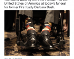 George H.W. Bush wore special book socks to Barbara Bush's funeral
