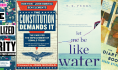 First lines: The Marginalized Majority, The Constitution Demands It, Let Me Be Like Water, and The Diary of a Bookseller