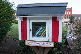 We're at the combination Pizza Hut and Little Free Library