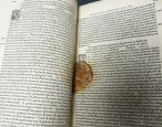 Reminder: don't put food in your books